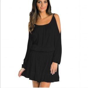 ELAN Black Gauze Dress